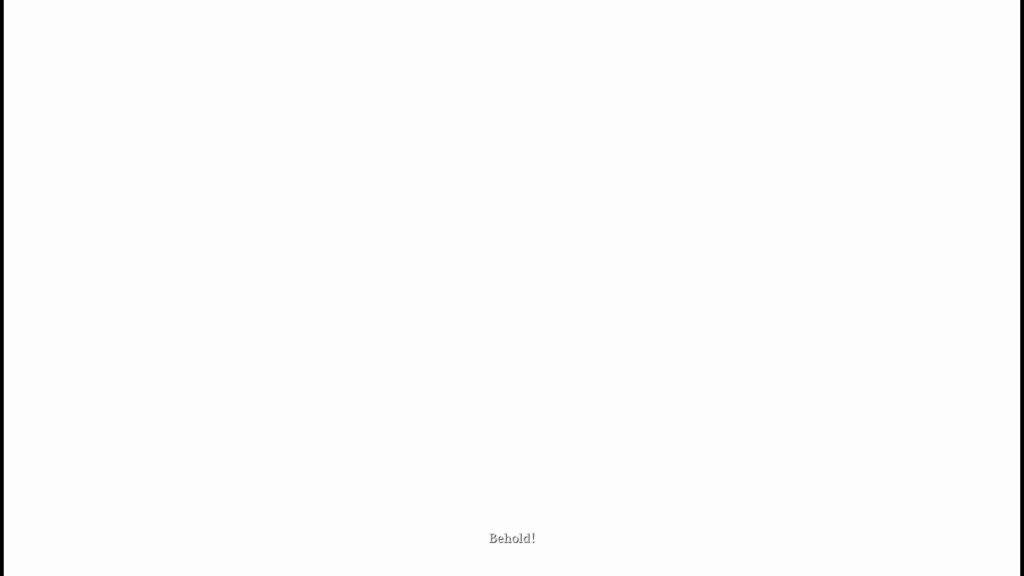 White screen with white subtitles.