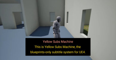Example still of how Yellow Subs Machine works in UE4