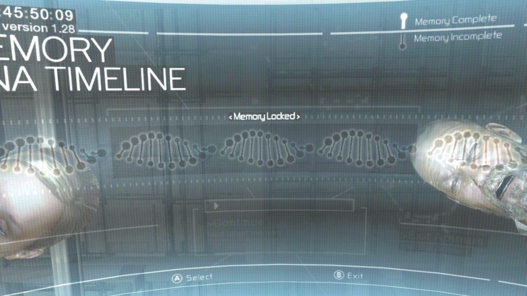 Animus menu screen