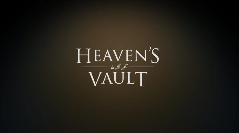 Heaven's Vault title screen
