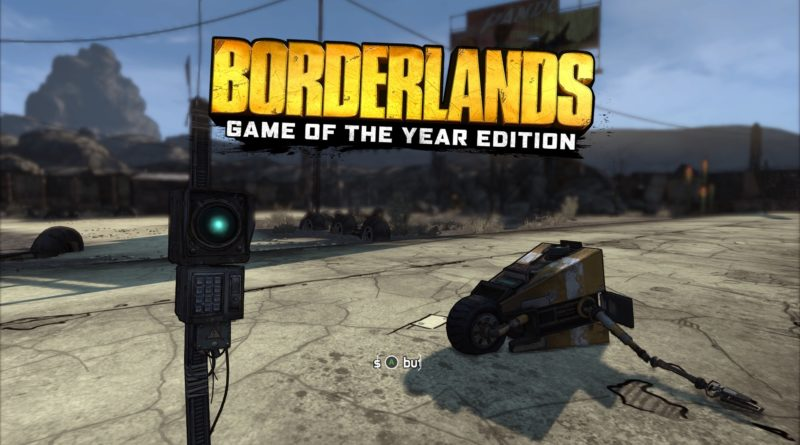 Borderlands title screen