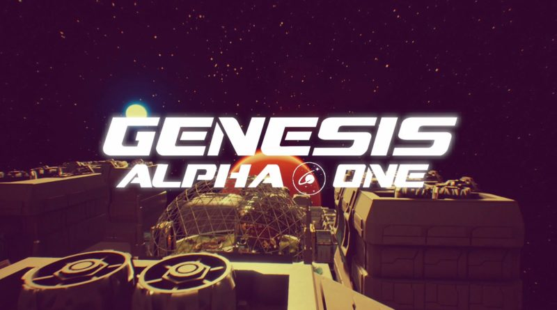 Genesis Alpha One title screen