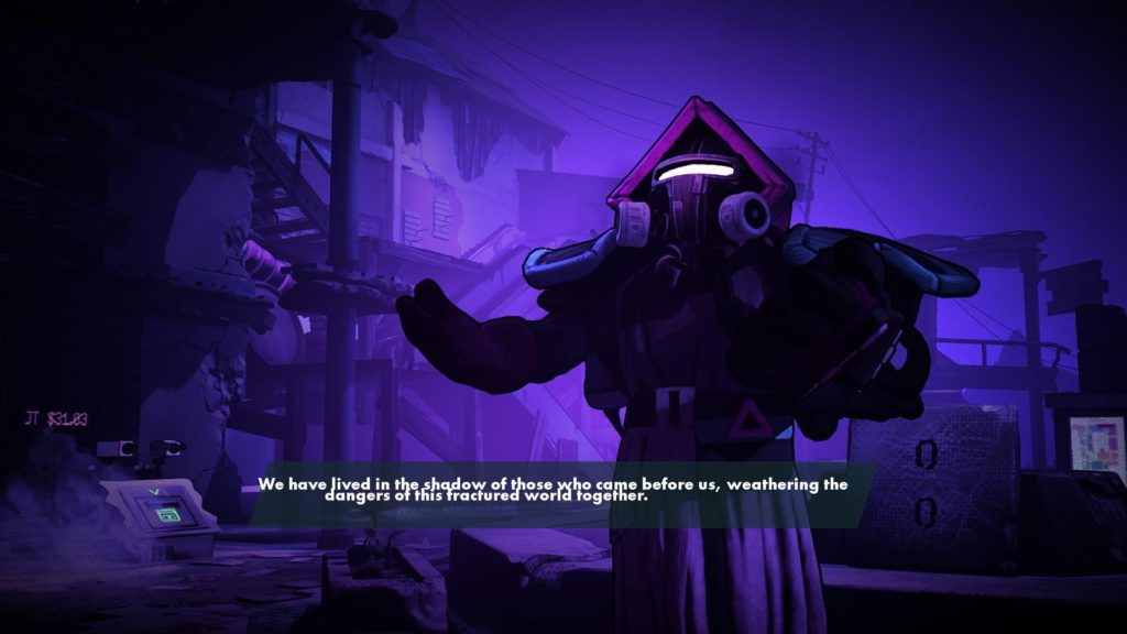 Cutscene image taken to illustrate buggy looking large text size option.