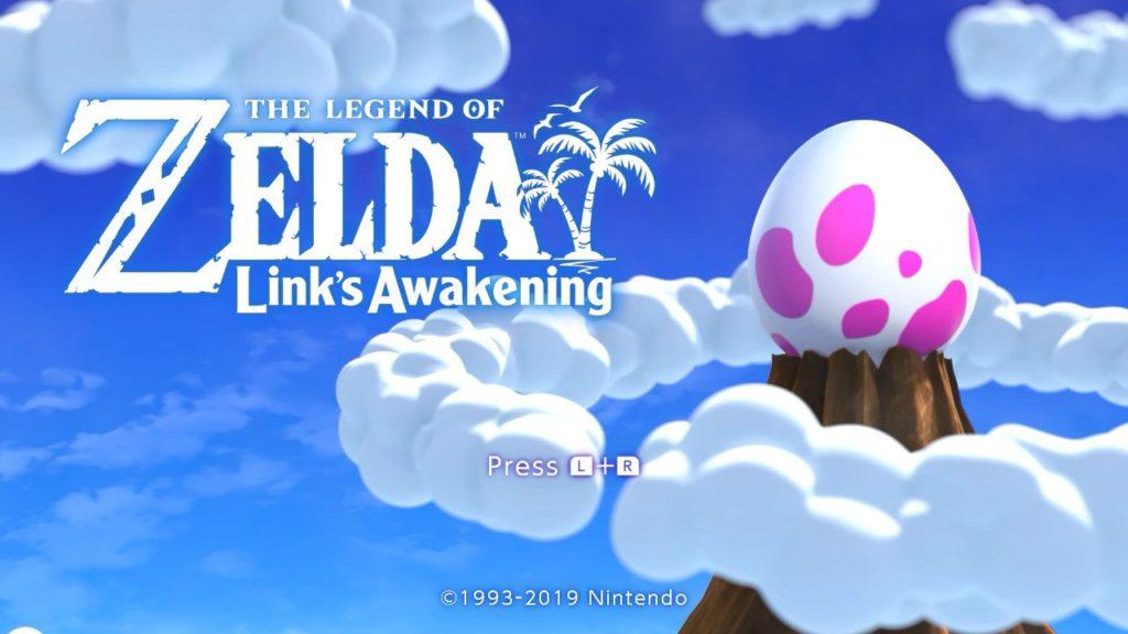 Link's Awakening title screen