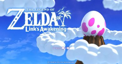 Link's Awakening title screen