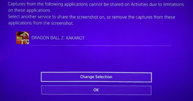 PS4 message stating that screenshots have been blocked by the game.